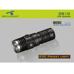 SKILHUNT DS10 Cree XM-L2 5-Mode 300 Lumens 16340 LED Flashlight