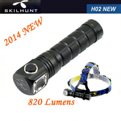 SKILHUNT New H02 Cree XM-L2 5-Mode 820 lumens Headlamp LED Flashlight