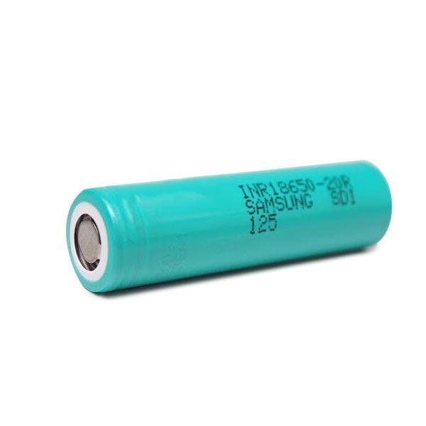 Samsung INR18650-20R 18650 3.7V 2000mAh Li-ion Laddningsbart Batteri Ficklampor