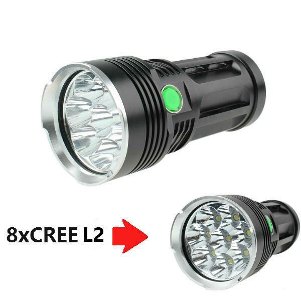 Skyray König 8x CREE XM L L2 12000Lumens super helle LED Taschenlampe Taschenlampe