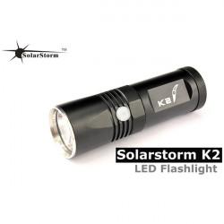 Solarstorm K2 CREE XM-L U2 Cool Vit 890lm LED Ficklampa