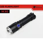 Solarstorm SC02 CREE XM-L2 T6-3C / U2-1A 580LM LED Ficklampa Ficklampor