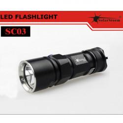 Solarstorm SC03 CREE XM-L2 T6-3C/U2-1A 280LM LED Flashlight