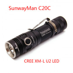SunwayMan C20C CREE XM-L U2 450lm Tacitical LED Ficklampa
