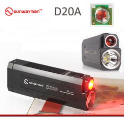Sunwayman D20A CREE XM-L2 + XP-E P2 Dual Ljuskällor LED Ficklampa