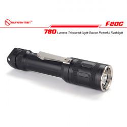 Sunwayman F20C CREE XML2 780Lumen Tricolored Ljus LED-Ficklampa