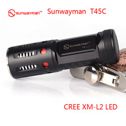 Sunwayman T45C CREE XM-L2 Metallic Hollow-out Tactical LED Ficklampa