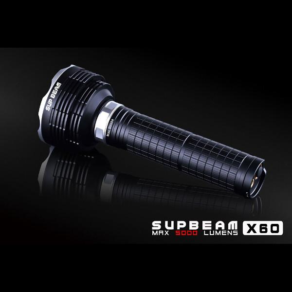 SupBeam X60 5*CREE XM-L2 5000LM Infinite Brightness LED Flashlight Flashlight