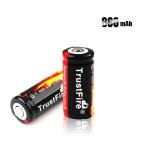 Trust 16340 800mAh 3.7V Li-ion Laddningsbart Batteri Ficklampor