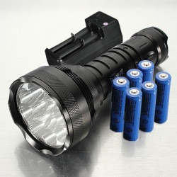 Trustfire 15000lm 12x CREE XM-L T6 LED Flashlight With Battery Charger
