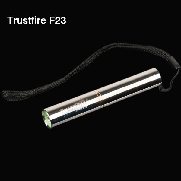 Trust F23 CREE R2 450LM Stainless Steel Mini LED Ficklampa 1xAAA Ficklampor