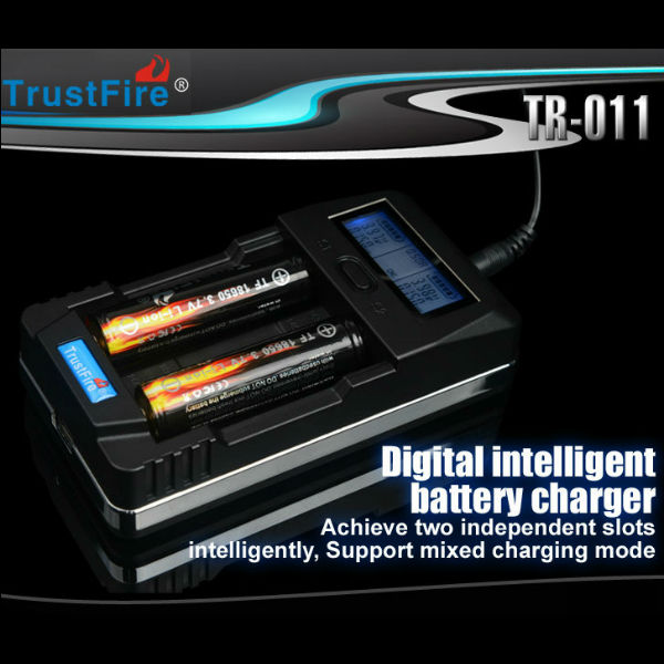 Trustfire TR-011 Digital Smart USB Battery Charger 2slots Flashlight