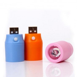 USB Mobile Power Charge Treasure LED External Flashlight With Switch
