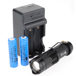 Ultrafire CREE Q5 300 Lumen Zoomable MINI LED Taschenlampe (AA / 14500)