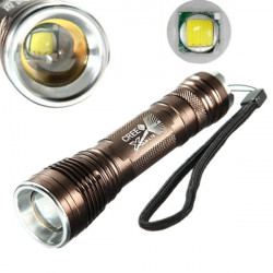 Ultra CREE XM-L T6 5 Mode 12W 1000LM Zoombar LED Ficklampa