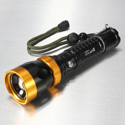 Ultra 12W CREE XM-L T6 1800LM Zoombar LED Ficklampa