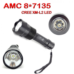 Ultrafire C12 AMC 8X7135 CREE XM-L2 5 Modes 2000 Lumen LED Flashlight
