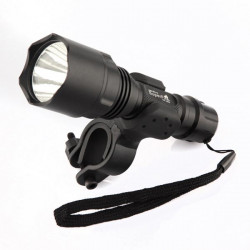 Ultrafire C8 CREE Q5 LED Flashlight With Bicycle Holder