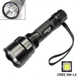Ultrafire C8 CREE XM-L2 1800LM 5 Modes LED Flashlight 1x18650