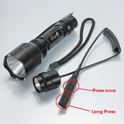 Ultrafire C8 CREE XM-L2 T6 LED Flashlight+Remote Control Switch
