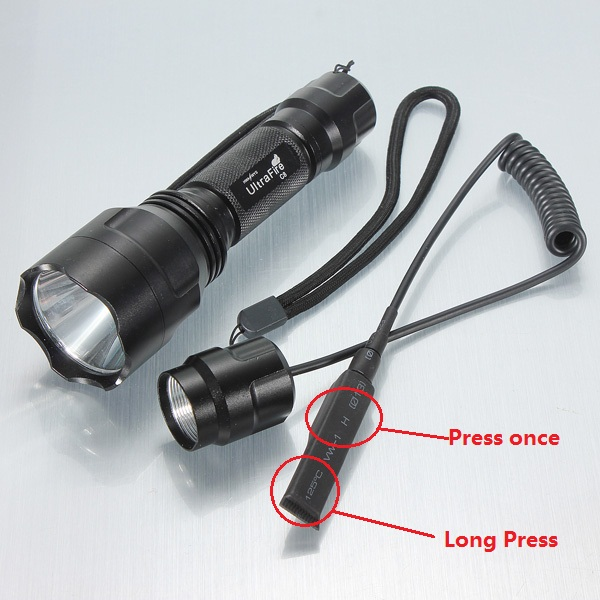 Ultrafire C8 CREE XM-L2 T6 LED Flashlight+Remote Control Switch Flashlight