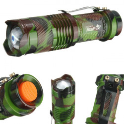 Ultrafire CREE Q5 500LM Camouflage Zoomable Mini LED Flashlight