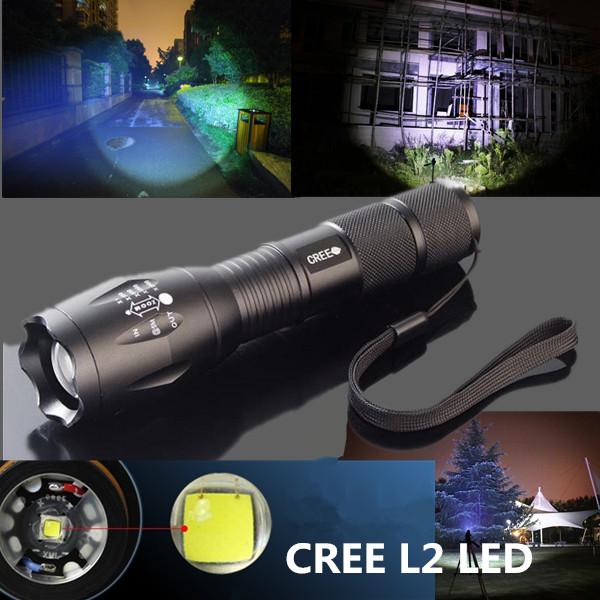 Ultrafire CREE XM-L2 5 Modes 2000LM Zoomable LED Flashlight Flashlight