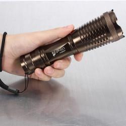 Ultra CREE XM-L T6 12W 1800LM Zoombar LED Ficklampa
