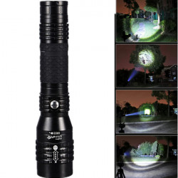 Ultra CREE XM-L T6 2000LM Zoombar LED Ficklampa 18650
