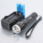 Ultrafire CREE XM-L T6 5 Mode Zoomable LED Flashlight 1x18650 Flashlight