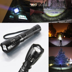 Ultra CREE XM-L T6 5 Mode 2000LM Zoombar LED Ficklampa