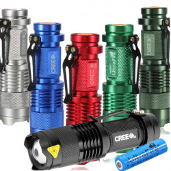 Ultra CREE XPE Q5 300lm Mini LED Ficklampa 14.500