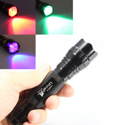 Ultrafire WF 501B CREE XM L T6 LED Taschenlampe Rot Grün UV Licht