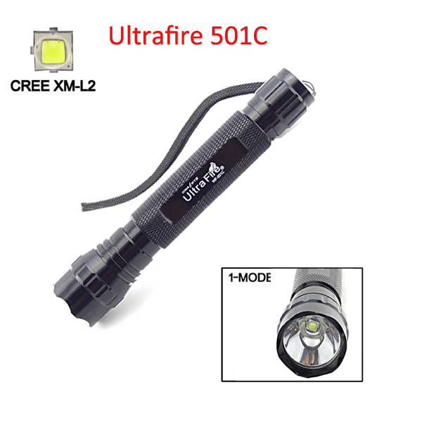 Ultrafire WF-501C CREE XM-L2 1800LM LED Flashlight 3x16340 Flashlight
