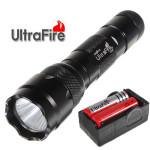 Ultrafire WF-502B CREE XM-L2 1000LM 5modes LED Ficklampa Suit Ficklampor