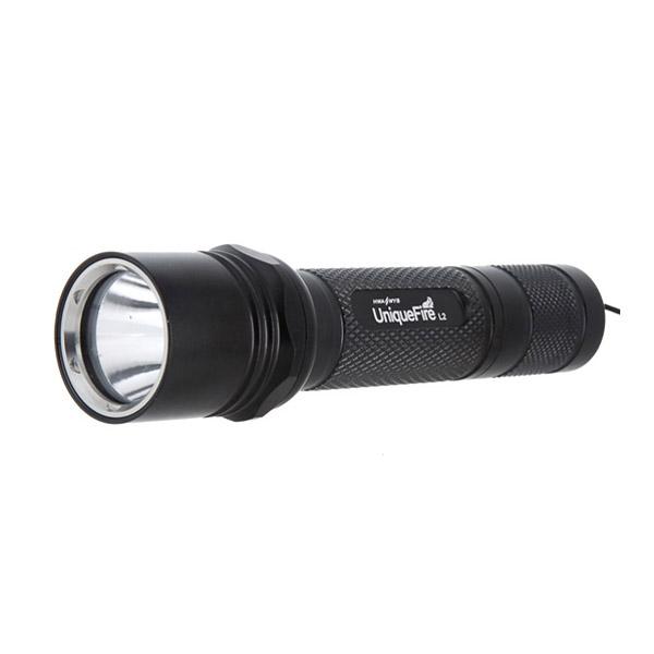 UniqueFire L2 CREE XM-L T6 1000LM Ett Läge LED Ficklampa 18650 Ficklampor