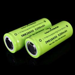 VAPPOWER 26650 5200mAh 20A 3.7V Li-Ion Rechargeable Battery