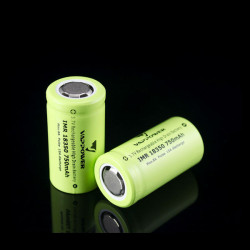 VAPPOWER IMR18350 750mah 8A 3.7V Li-Ion Rechargeable Battery