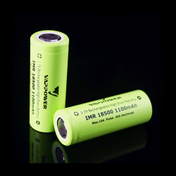 VAPPOWER IMR18500 1100mah 10A 3.7V Li-Ion Rechargeable Battery