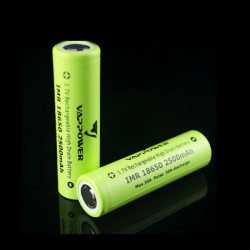 VAPPOWER IMR18650 2500mah 35A 3.6V Li-Ion Rechargeable Battery
