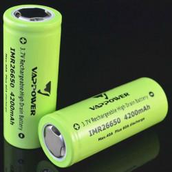 VAPPOWER IMR26650 4200mAh 3,7 V 40A wiederaufladbare Lithium Ionen Akku