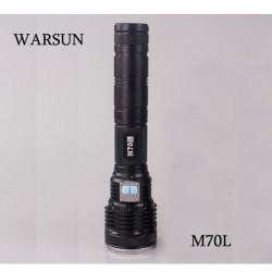 WARSUN M70L Cree XM L2 6 Mode Fernschüsse LED Taschenlampe 2 * 18650 26650