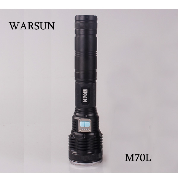WARSUN M70L Cree XM-L2 6-Mode Long Shots LED Flashlight 2*18650 26650 Flashlight