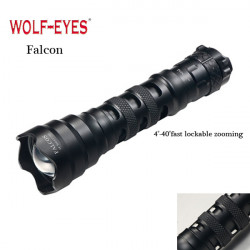 WOLF-EYES Falcon CREE XM-L2 U2 1210LM Zoombar LED Ficklampa