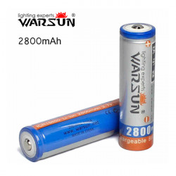 Warsun 3.7V 2800mAh Rechargeable lithium 18650 Battery