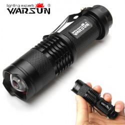 Warsun CREE XP-E 7W 140 Lumen 3 Mode Zoombar LED Ficklampa 1 * AA