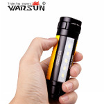 Warsun H006 Q5 400LM Magnet Ring Mini LED Taschenlampe Gelb 18650 Taschenlampe