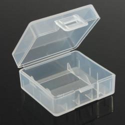 Hvid Hård Plast Batteri Case Box for 2x18350 Batteri