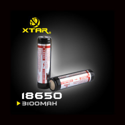 XTAR 18650 3100mAh Panasonic Cell Rechargeable Protected Battery
