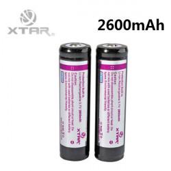 XTAR 2600mAh 3,7 V 18650 Geschützte Lithium Akku